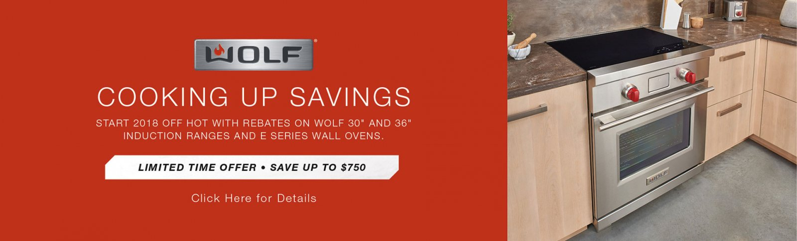 Rebate savings with qualified Wolf Induction Ranges and Wall Ovens
